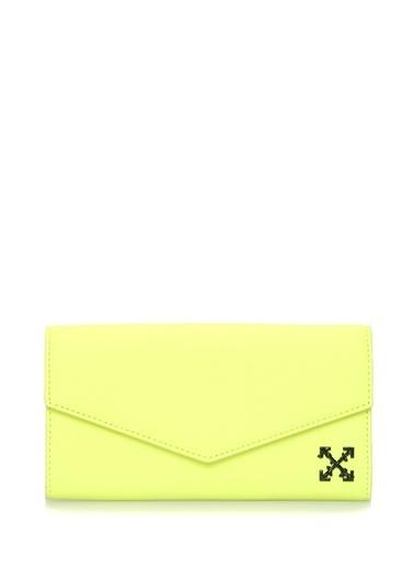 Off-White Cüzdan Sarı
